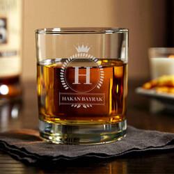 - Kişiye Özel Harfli ve İsimli Viski Bardağı