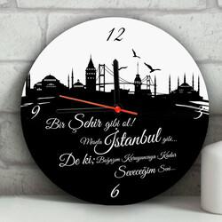 - Kişiye Özel İstanbul'un İncileri Duvar Saati