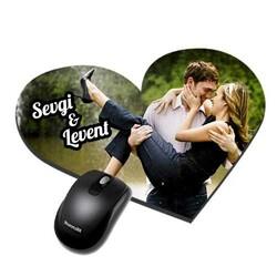 - Kişiye Özel Kalp Mouse Pad