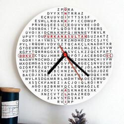 - Kişiye Özel Kelime Bulmaca Duvar Saati
