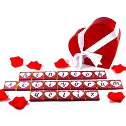 - Kişiye Özel Mesajlı Harf Çikolata