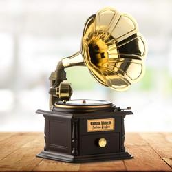 - Kişiye Özel Nostalji Gramofon Müzik Kutusu