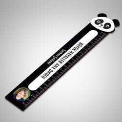 - Kişiye Özel Panda Tasarımlı Cetvel