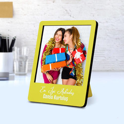 - Kişiye Özel Polaroid Resim Çerçevesi Sarı