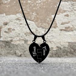 - Kişiye Özel Puzzle Kalp Kolye