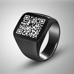 - Kişiye Özel QR Code Erkek Yüzüğü
