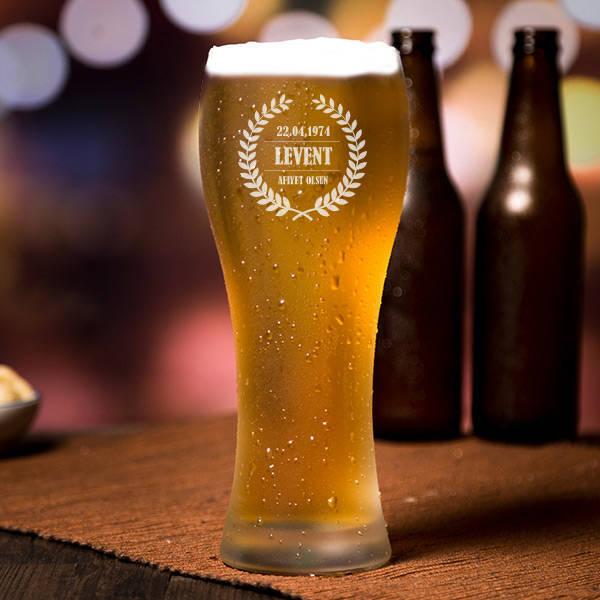 Kişiye Özel Şık Uzun Bira Bardağı