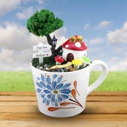 - Kişiye Özel Şirinler Evi Minyatür Bahçe