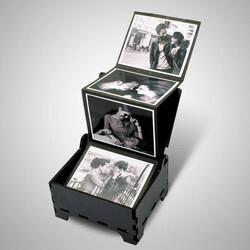 - Kişiye Özel Siyah Beyaz Fotoğraflı Anı Kutusu