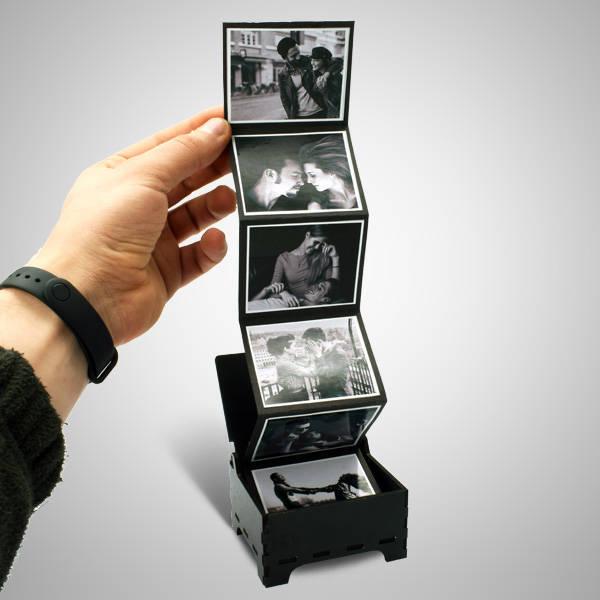 Kişiye Özel Siyah Beyaz Fotoğraflı Anı Kutusu