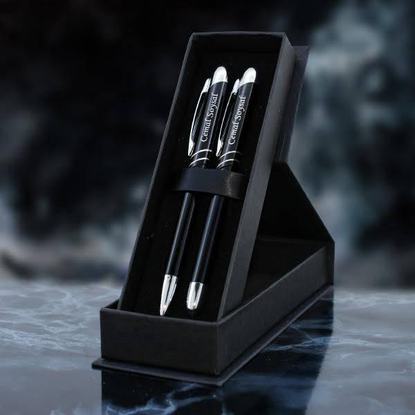Kişiye Özel Siyah İkili Kalem