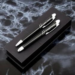 Kişiye Özel Siyah İkili Kalem - Thumbnail