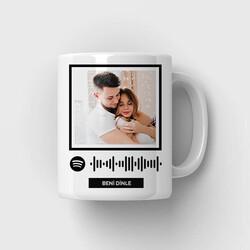 - Kişiye Özel Spotify Ses İzi Bardak