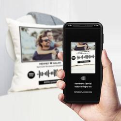- Kişiye Özel Spotify Ses İzi Yastık