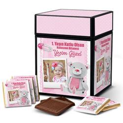 - Kız Bebeklere Hediye Çikolata Kutusu