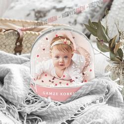 - Kız Bebeklere Özel Fotoğraflı Kar Küresi
