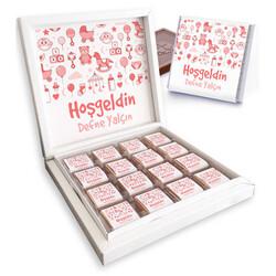 - Kız Bebeklere Özel Hoşgeldin Çikolatası