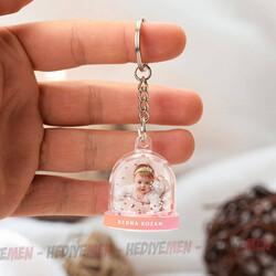 - Kız Bebeklere Özel Kar Küresi Anahtarlık