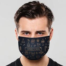 - Konsept Tasarımlı Yılbaşı Ağız Maskesi