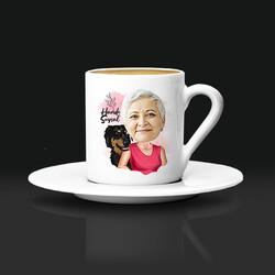 - Köpekli Anne Karikatürlü Kahve Fincanı