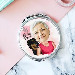 - Köpekli Anne Karikatürlü Makyaj Aynası