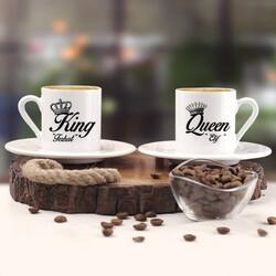 - Kral ve Kraliçe İkili Kahve Fincanı