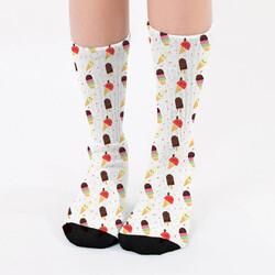 - Külah Dondurma Tasarımlı Kadın Çorap