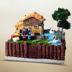 - Kütük Taş Ev Minyatür Bahçe