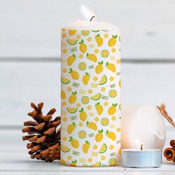 - Limon Tasarımı Lüks Mum