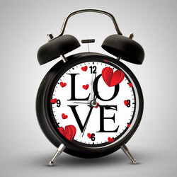 - Love Tasarımlı Romantik Çalar Saat