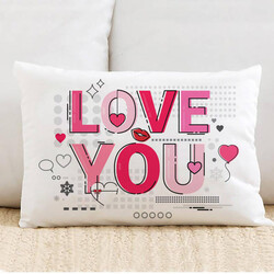 - Love You Motto Tasarım Yastık
