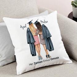 - Mezun Kız Arkadaşlar Tasarım Yastık