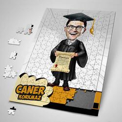 - Mezun Öğrenci Karikatürlü Puzzle