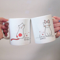 - Minnoş Kedicikler Sevgili Kupaları