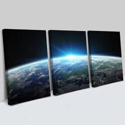 - Muhteşem Gezegenimiz 3 Parça Kanvas Tablo