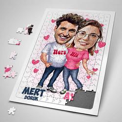 - Mutlu Aşıklar Karikatürlü Puzzle