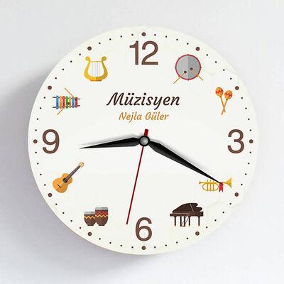 - Müzisyene Hediye Duvar Saati