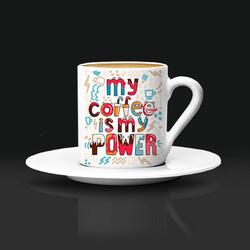 - My Coffee Is My Power Kahve Fincanı