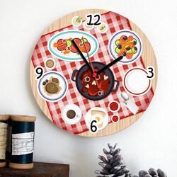 - Piknik Sofrası Mutfak Duvar Saati