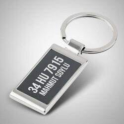 - Plakaya Özel Metal Anahtarlık