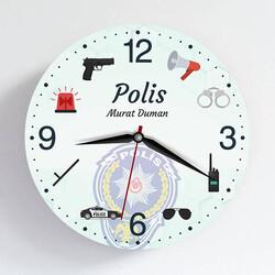 - Polise Özel Tasarım Duvar Saati