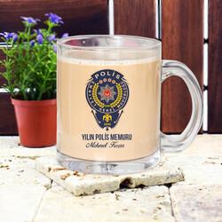 - Polislere Özel Cam Kupa Bardak