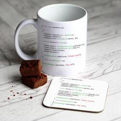 - Programcılara Özel Kupa ve Bardak Altlığı Seti