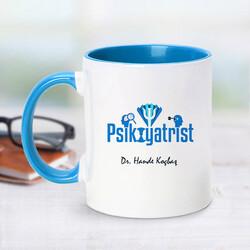 - Psikiyatrist İçin Mavi Kupa Bardak