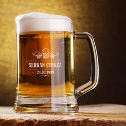 - Pup Tasarımlı İsme Özel Bira Bardağı