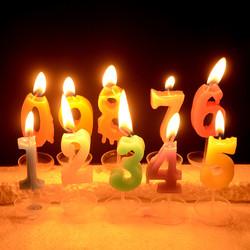 - Rakamlı Doğum Günü Pasta Mumları