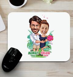 - Romantik Aşıklar Karikatürlü Mouse Pad
