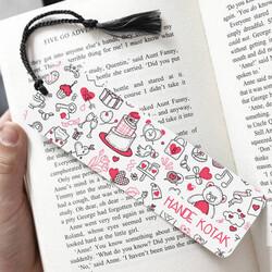- Romantik Süsler İsimli Kitap Ayracı