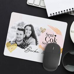 - Seni Seviyorum Fotoğraflı Mousepad