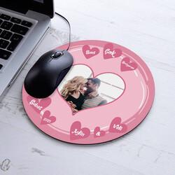 - Seni Seviyorum Fotolu Yuvarlak Mousepad